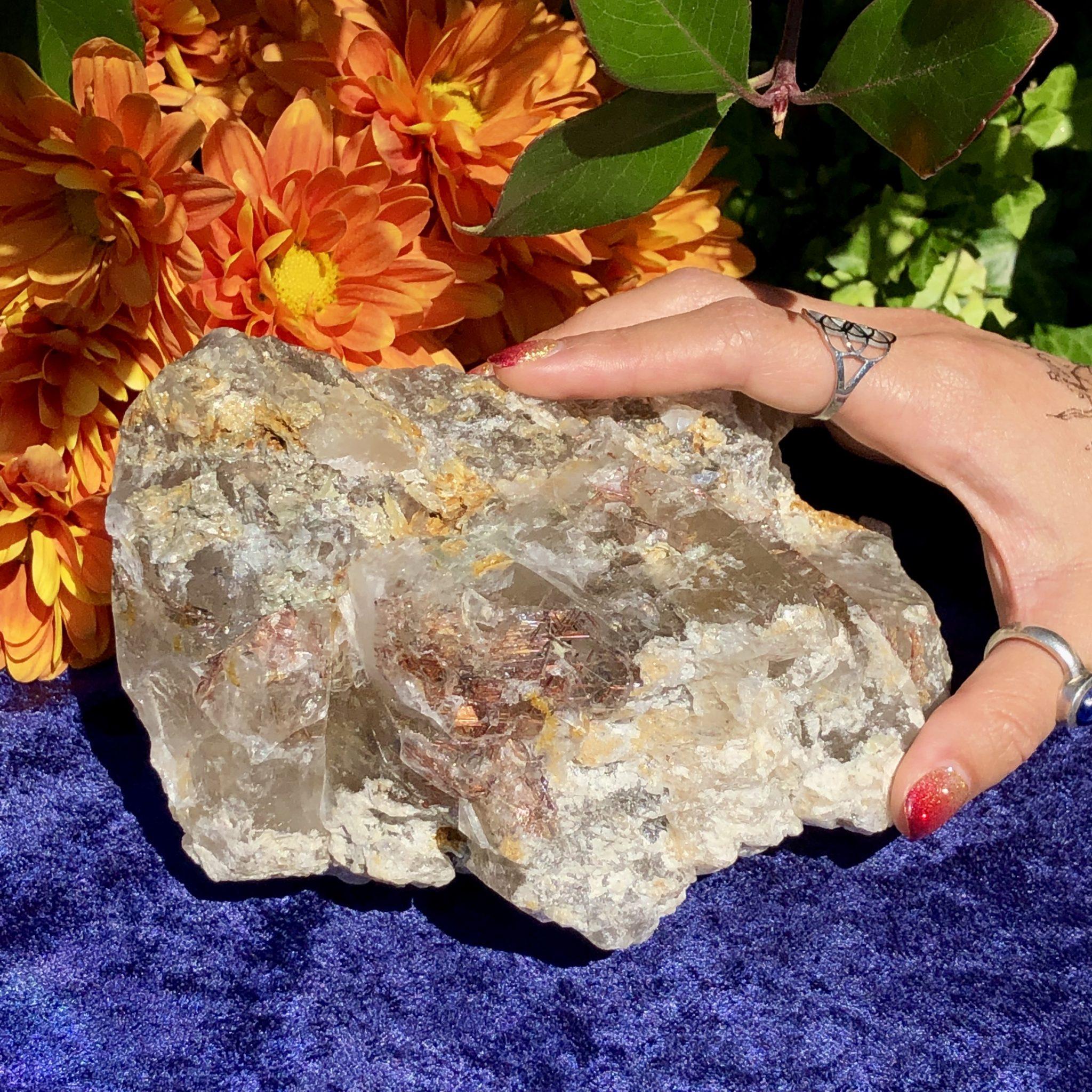 Gemstone Sale: Skeletal Elestial Smoky Quartz with Sagenite